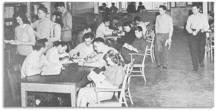 Studying at Vanport, 1947