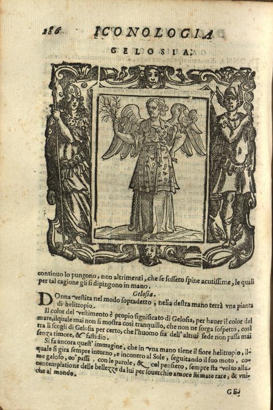 """""""Gelosia,"""" p. 286, Iconologia di Cesare Ripa"""