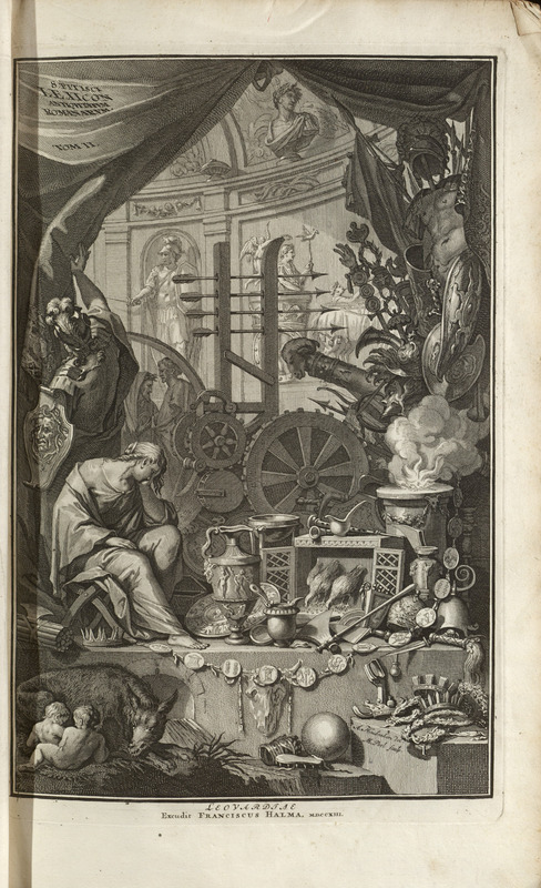 Frontispiece engraving, t.2, Samuel Pitiscus Lexicon 1713