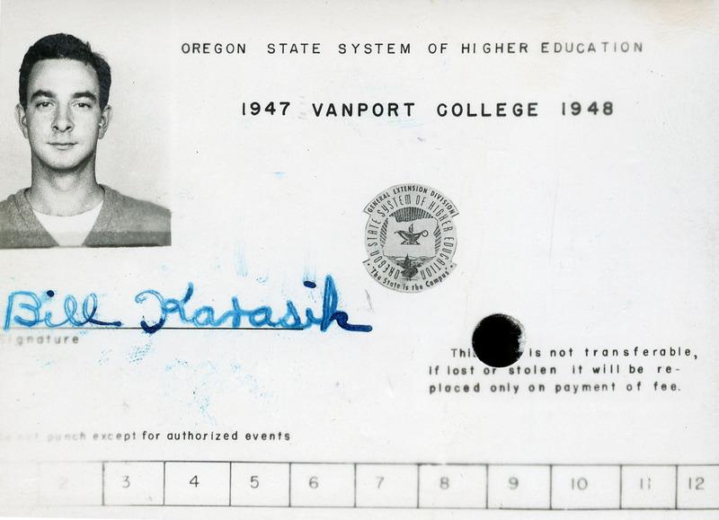 Vanport Student ID card