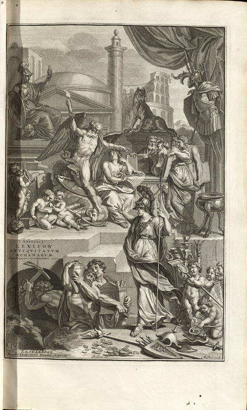 Frontispiece engraving, t.1, Samuel Pitiscus Lexicon 1713
