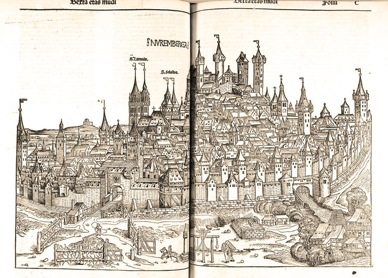 Nuremberg Chronicle, scene of Nuremburg