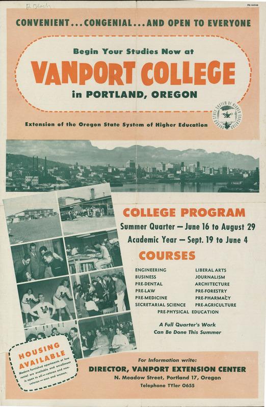 Vanport College Poster