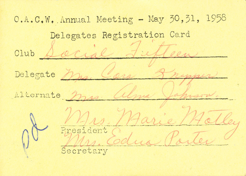 OACW Delegate Card