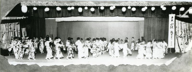 Doyo buyo recital in Stockton, California, 1930s