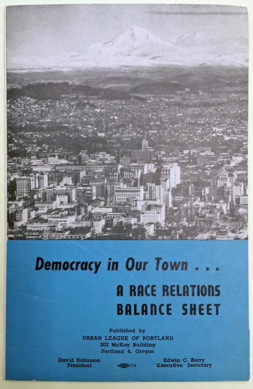 Urban League of Portland Brochure c.1955