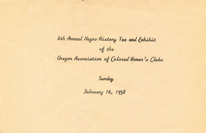 8th Annual Negro History Tea and Exhibit