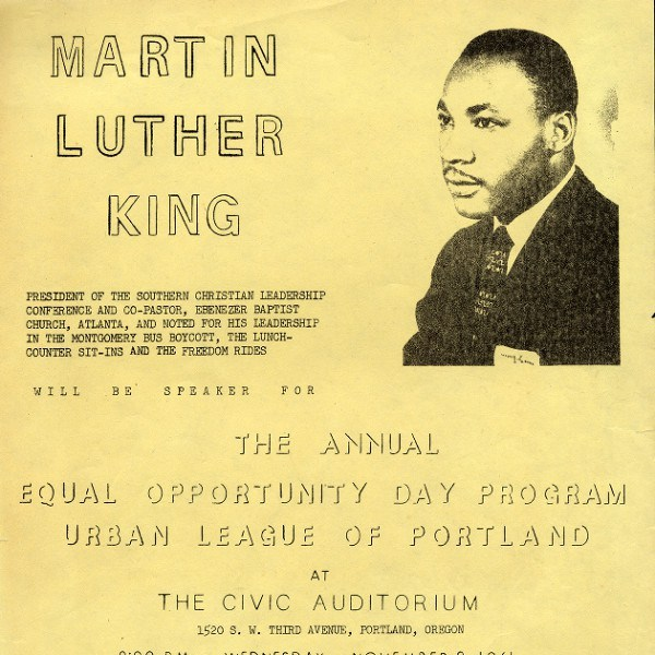 Urban League Flyer MLK Visit 1961