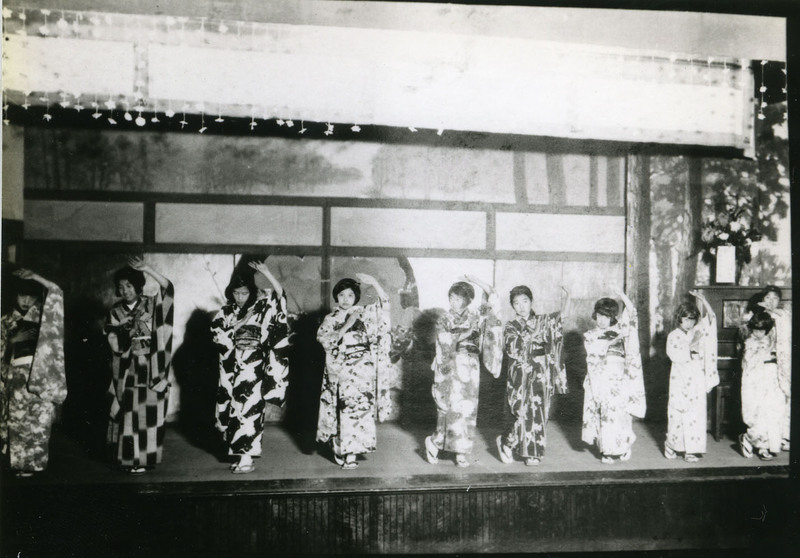 Doyo buyo recital in Stockton, California, 1930s.