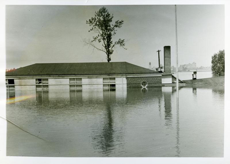 Portland Hall flooded