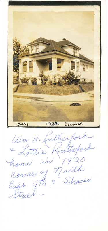 The Rutherford family home, c. 1922