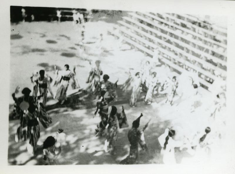 Bon odori practice in Tacoma, Washington, 1934.