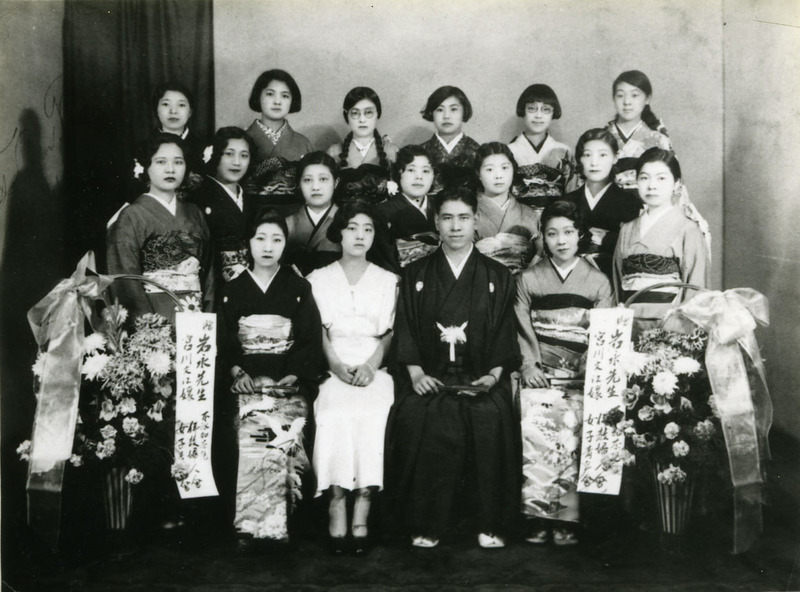 Advanced doyo buyo class with Reverend Iwanaga and pianist, Vancouver, British Columbia, October 8, 1933