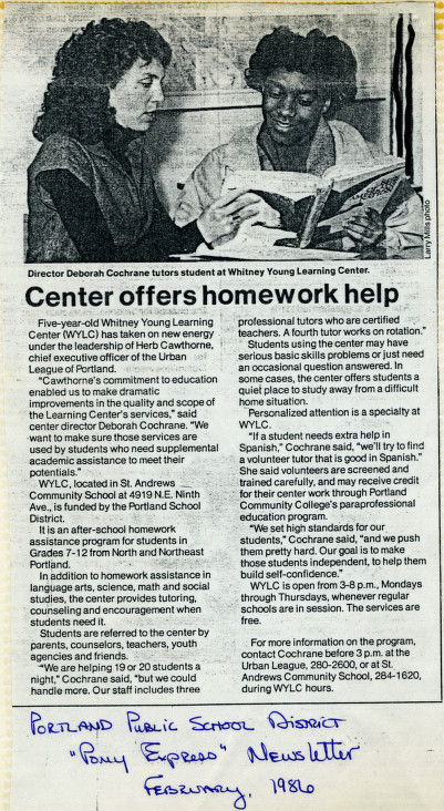 Deborah Cochrane News Clipping 1986