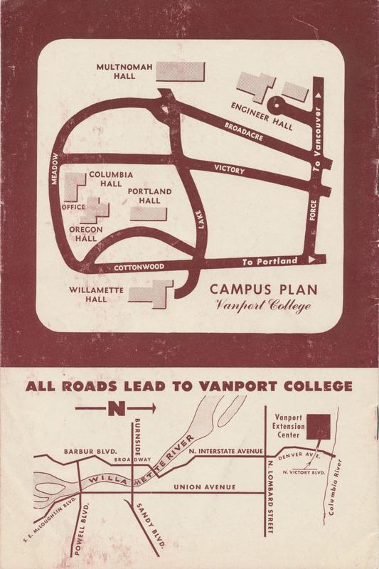 Back cover, Vanport catalog, circa 1948