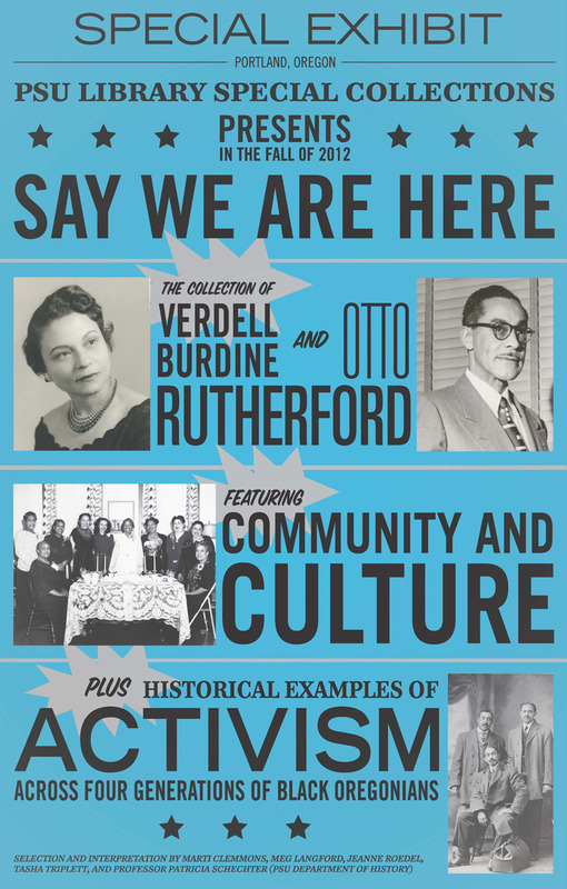 "Exhibit poster for ""Say We Are Here"" designed by Thomas Cober."