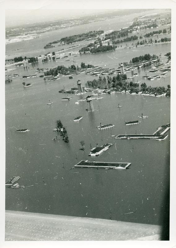 Vanport College under water