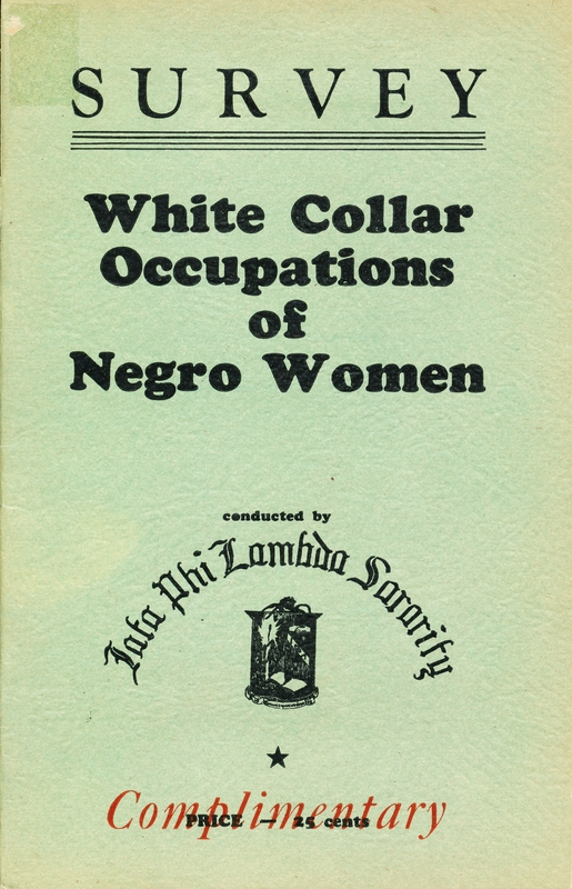 Survey of White Collar Occupations of Negro Women
