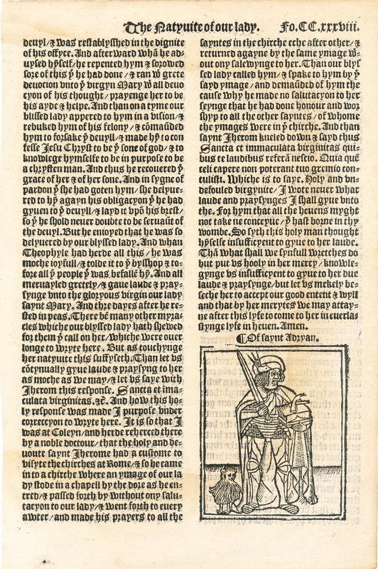 The Golden Legend, folio 238 recto