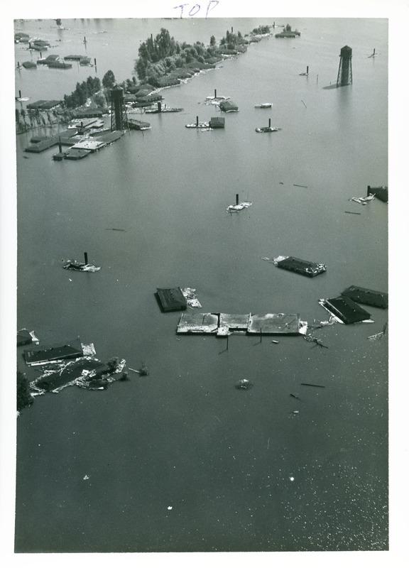 Over Vanport during flood