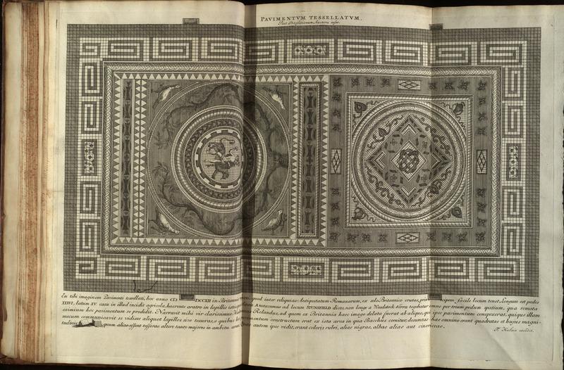 Pavimentum tessellatum, foldout, Samuel Pitiscus Lexicon 1713