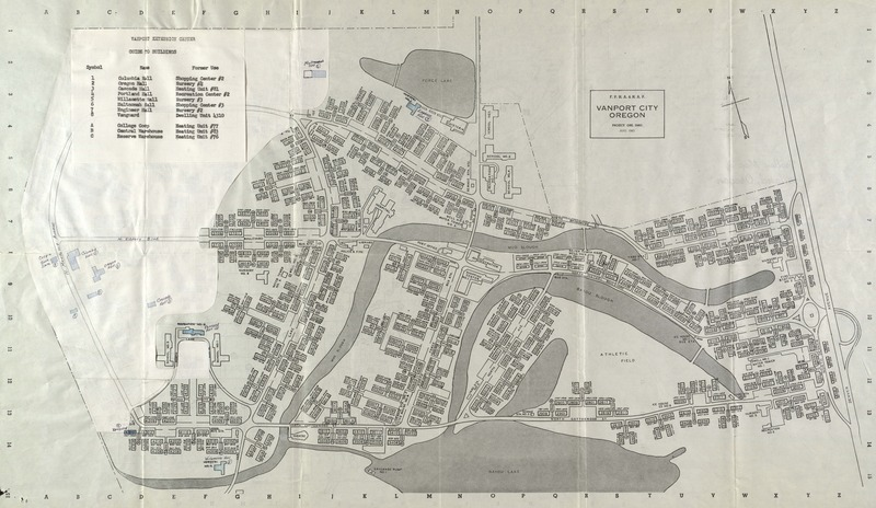 Map of Vanport City and VEC