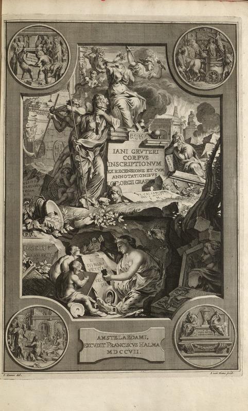 Engraving, t.1 pt.1, Jan Gruterus Inscriptiones 1707