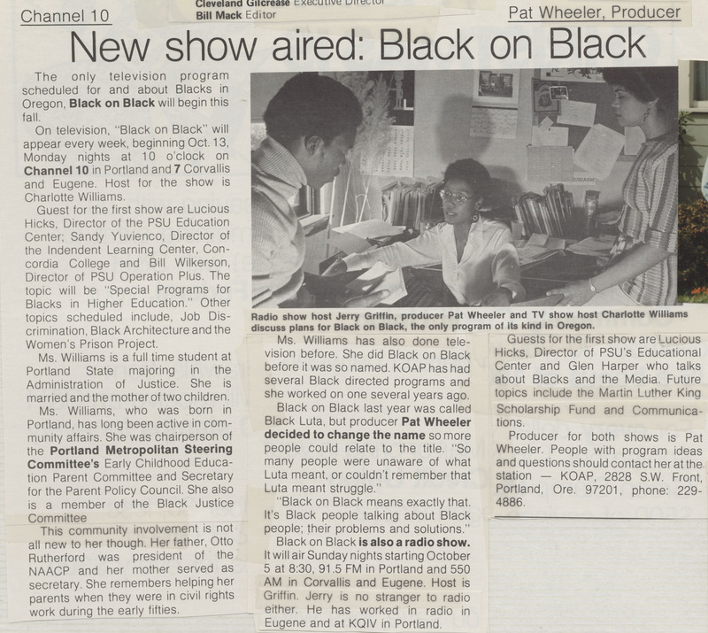 """Charlotte Rutherford """"Black on Black"""" article"""