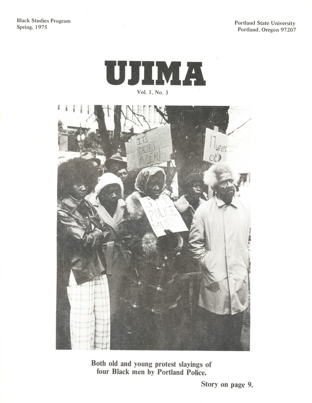 Ujima, vol. 1 no. 3 (Spring 1975) front cover