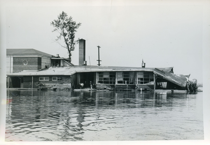 Portland Hall flooded, another view