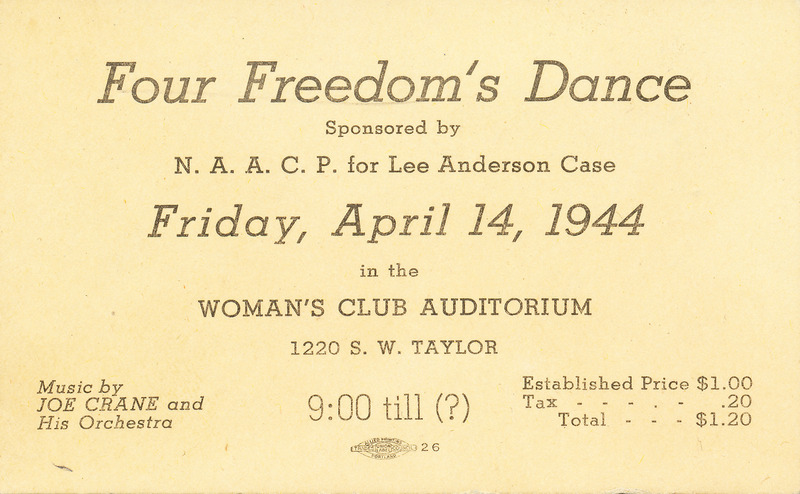 """Four Freedom's Dance"" invitation"