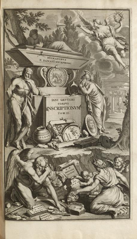 Engraving, t.2 pt.1, Jan Gruterus Inscriptiones 1707