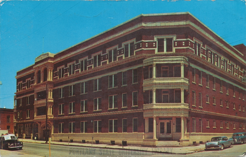Postcard of the National Baptist Hotel and Bath House