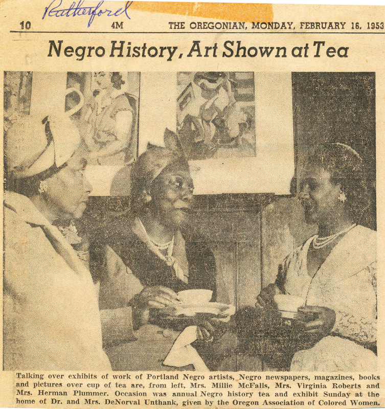 Negro History Tea clipping