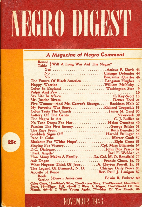 Negro Digest 183 Highlights From The Gates Collection Of