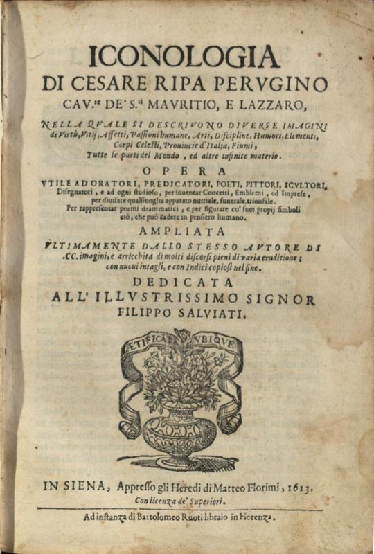 Title page, Iconologia di Cesare Ripa, 1613