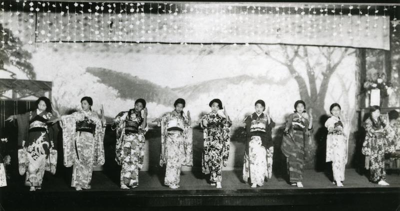 "Doyo buyo recital performance of Hanayome Ningyo (""Bridal Doll"") in Stockton, California, 1930s."