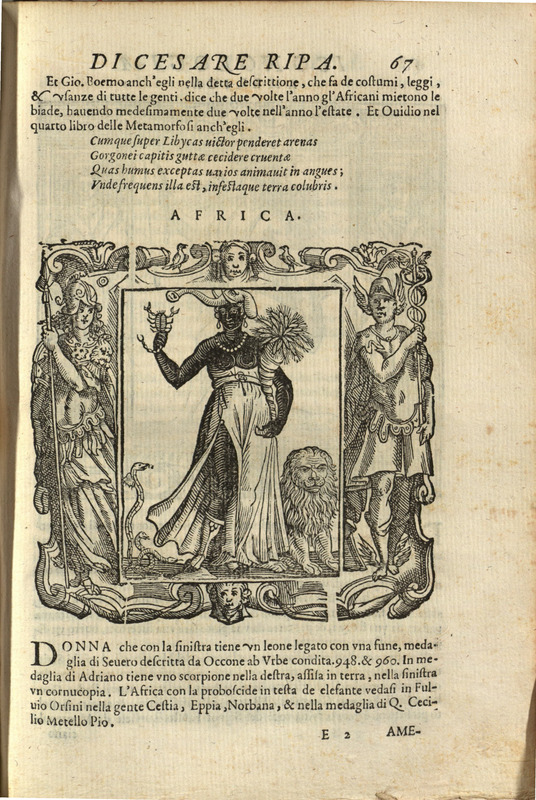 """Africa,"" p.67 pt.2, Iconologia di Cesare Ripa"
