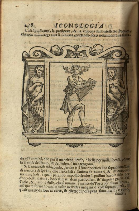 "Illustration accompanying the entry ""Furor Poetico,"" p. 258, Iconologia de Cesare Ripa"