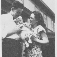 Family with baby at Vanport, 1947