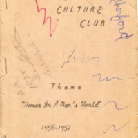 Cover of Culture Club Year Book 1956-57
