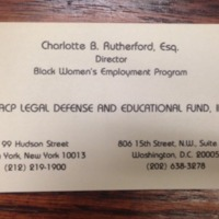 Charlotte Rutherford Business Card