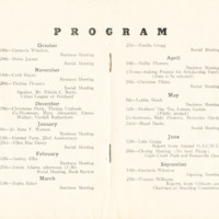 Program in Culture Club Year Book 1945-46