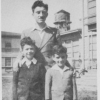 Student with children at Vanport, 1947