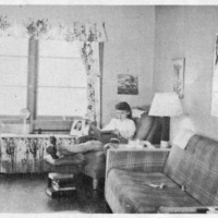 Vanport student studying at home, 1947