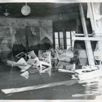 Interior damage to Vanport College building