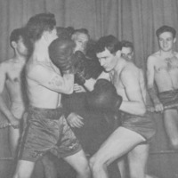 Boxing students in the ring, 1947