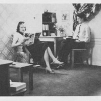 Vanport students at home, 1947
